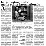 Arabic literature visible on the international scene?